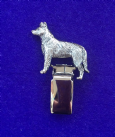 Dog Show Breed Ring Number Clip - Beauceron - FULL BODY Silver or Gold Style